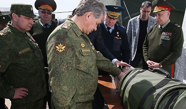 Minister Shoigu checked the combat readiness of the landfill Ashuluk
