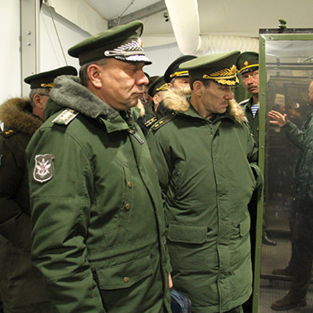 Russian Deputy Defense Minister Yuriy Borisov visited the autonomous field camp, deployed in the Nizhny Novgorod Region